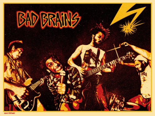 Signed By Bad Brains 18 x 24 Inches