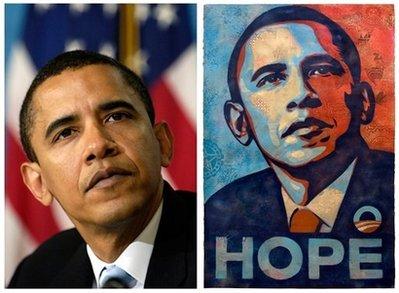 AP Photographer Mannie Garcia / 'Hope' Print by Shepard Fairey