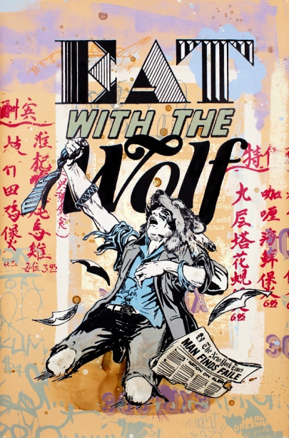 Faile 'Eat With The Wolf' Edition of 20 Size: 25 x 38 Inches $2800 Each