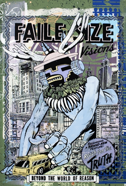 Faile 'Reach For The Truth' Edition of 20 Size: 25 x 38 Inches $2800 Each