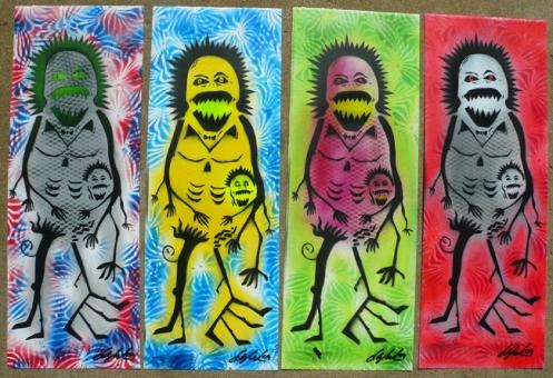 Ian Millard 'Free Cut # 1' Edition of 12 Size: 8 x 22 Inches $35 Each