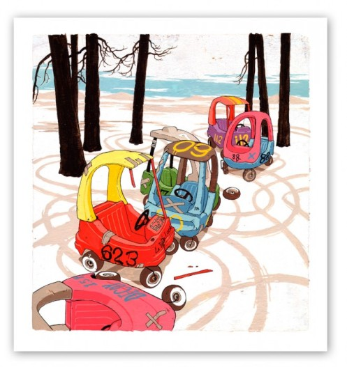 Adam Haynes 'Kiddie Cars' Sm Edition of 50 + Lg Edition of 25