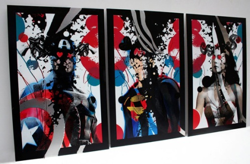 Miss Bugs 'The Faceless Art 3' Triptych Edition of 30 Size: 50 x 70cm $1140 Per Triptych or $380 Each