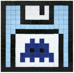 Space Invader 'Blue Floppy' €3000