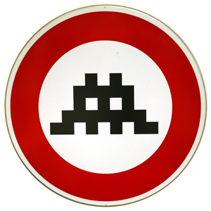 Space Invader 'Traffic Sign' €3000