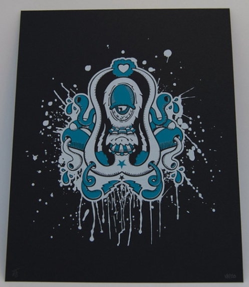 Adam Saul 'Drip Monsters' Blue Edition of 20 Size: 8 x 10 inches $25 Each