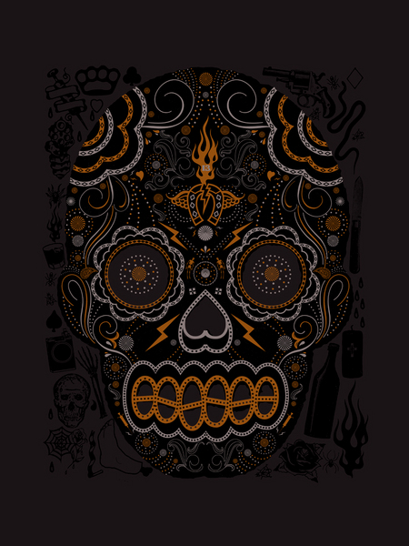 Hero Studios 'Sugar Skull' Edition of 50 Size: 18 x 24 Inches $25 Each