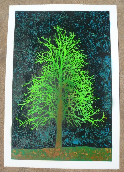 Ian Millard 'Earth Day Tree' Edition of 25 Size: 15 x 22 Inches $50 Each