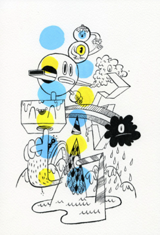 Jesse Ledoux 'Weather Pattern' Original Ink + Gouache On Paper AU$265