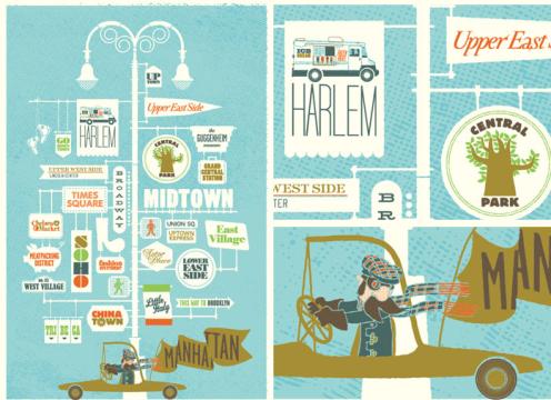 Three Potato Four/Jim Datz 'Manhattan Map' Edition of 500 Size: 16 x 24 Inches $48 Each