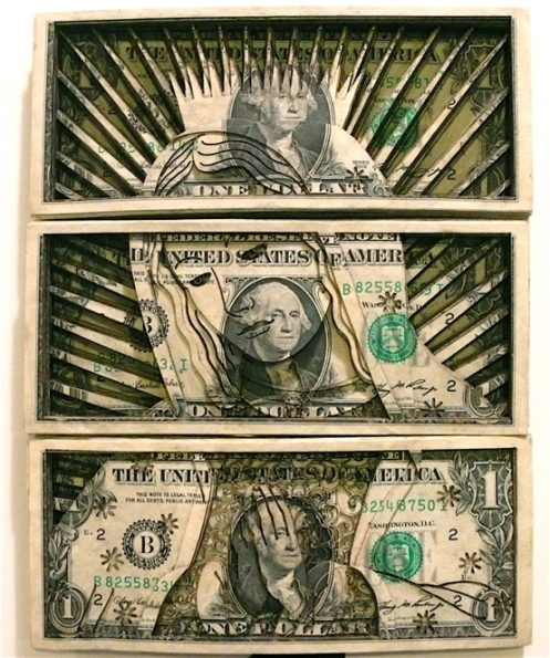 Scott Campbell AMAZING Laser Cut Dollar Bill Stacks