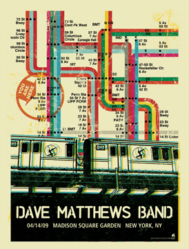 Methane Studios 'Dave Matthews Band' Edition of 700 Size: 18 x 24 Inch $40