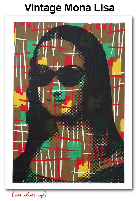 Mr Brainwash 'Vintage Mona Lisa' Edition of 35 Size: 22 x 30 Inches $300 Each