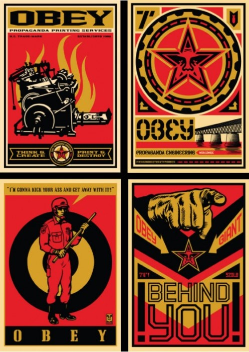 Obey '20 Year Retro Series' Edition of 50 Size: 29 x 41 Inches $2000/Set or $600 Each