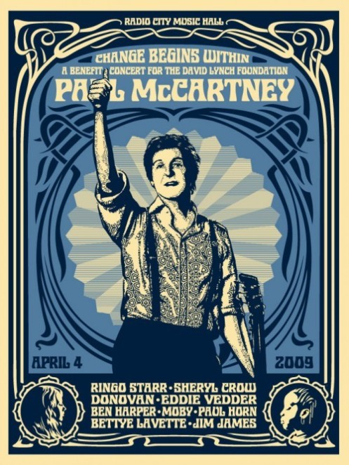 Obey 'Paul McCartney' Blue Edition of 600 Size: 18 x 24 Inches $45ish Each