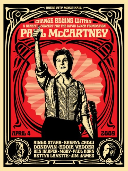 Obey 'Paul McCartney' Red Edition of 600 Size: 18 x 24 Inches $45ish Each