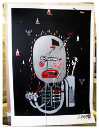 Sickboy 'Grog Face #2' Original Size: 57 x 75cm £650 Each