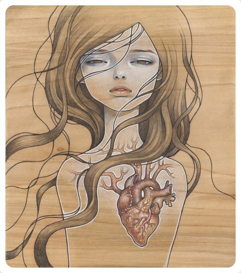 Audrey Kawasaki 'My Dishonest Heart' Edition of 200 Size: 11 x 12 Inches $100 Each