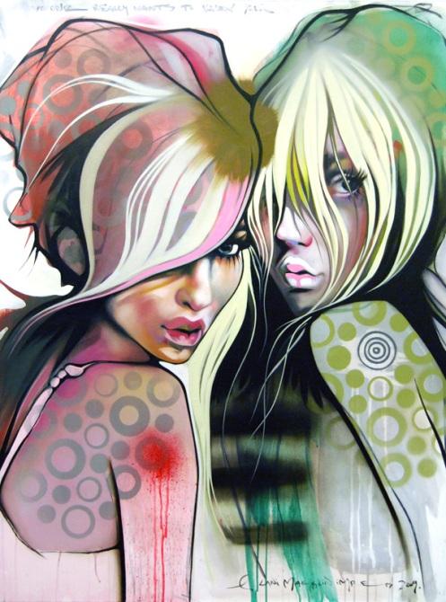 Lana Imre 'Two Bettys' Original Size: 36 x 48 Inches $3400