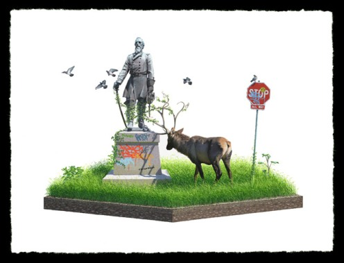 Josh Keyes 'Entangle II' Edition of 50 Size: 24 x 18 Inches $250 Each