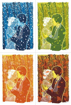 Kevin Tong 'Always' Set of 4 13 x 20 Inches $60/Set