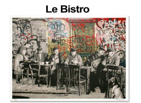 Mr Brainwash 'Le Bistro' Edition of 300 Size: 30 x 22 Inches $100 Each