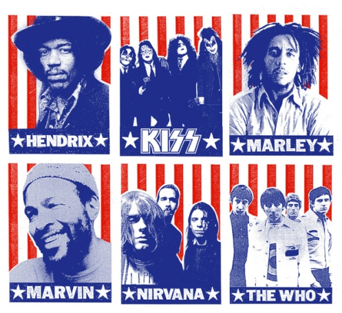 Print Mafia KISS, Marvin Gaye, Nirvana, Jimi Hendrix, The Who and Bob Marley VERY FEW LEFT