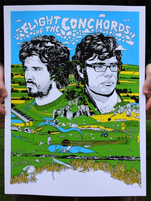 Tyler Stout 'Flight Of The Conchords' Edition of 350 Size: 18 x 24 Inches $35 Each