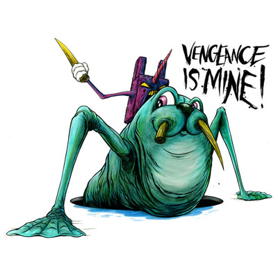 Alex Pardee 'Vengeance Is Mine' Edition of 30 Size: 22 x 17 Inches $60 Each