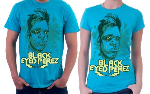 Perez Hilton 'Black Eyed Perez' T-Shirt By Jared Moraitis