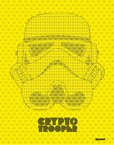MyCryptonauts 'Crypto Trooper' Size: 14 x 18 Inches $30 Each