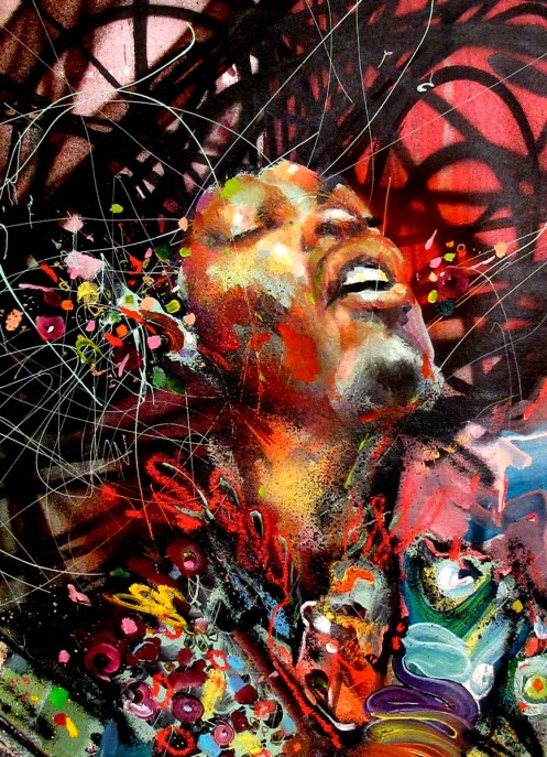 David Choe 'Jimi' Very Small Edition Size