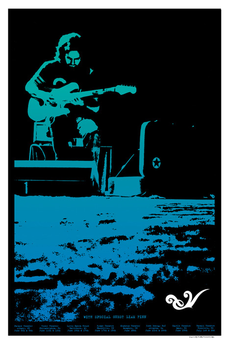 Eddie Vedder '2009 Tour Poster' Edition Size: 16 x 24 Inches $50 Each