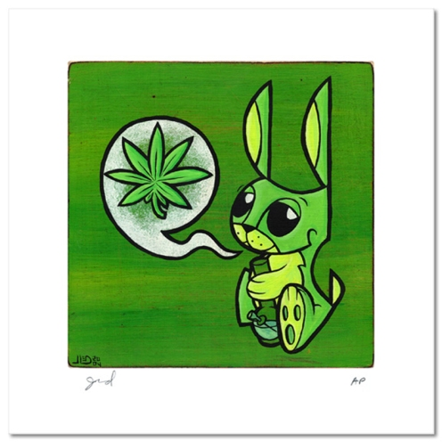 Joe Ledbetter 'Bunny And The Bong' Size: 7 x 7 Inches $100 Each