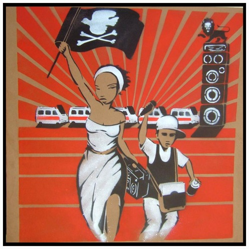 Mau Mau 'Liberty Leading The People' Edition of 6 Size: 61 x 61 Inches £225 Each