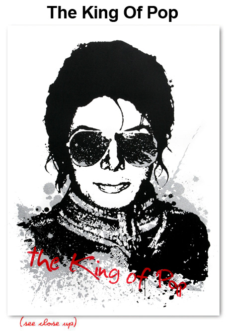 Mr Brainwash 'The King Of Pop' Edition of 250 Size: 22 x 30 $100 Each