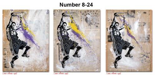 Mr Brainwash 'Number 24' Vintage Edition of 3 Size: 22 x 30 Inches $824 Each