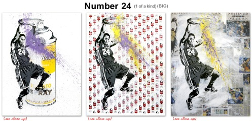 Mr Brainwash 'Number 24' Aerosol or Campbell's or Sports Section $2400 Each