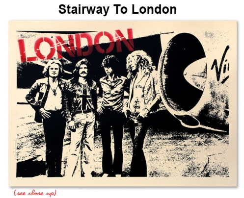 Mr Brainwash 'Stairway To London' Edition of 100 Size: 30 x 22 Inches $100 Each