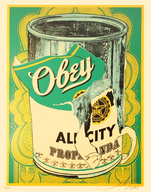 Obey 'Soup Can' Edition of 200 Size: 16 x 20 Inches $250 Starting Price