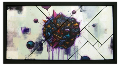 OddZoo 'Elements' Acrylic, Pencil + Ink On Wood Size: 24 x 14 Inches $500