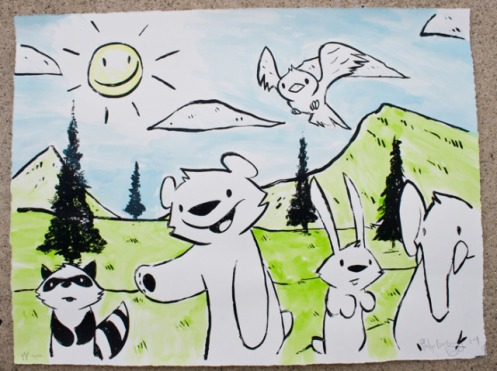 Philip Lumbang 'Forest Friends' Edition ? Size: 24 x 18 Inches $??