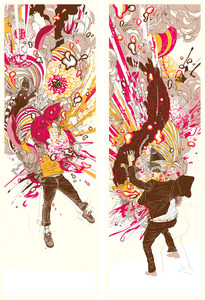 Zenviroments 'Explosive' Print Set Edition of 100 Size: 12 x 36 Inches $65 Each or $110/Set