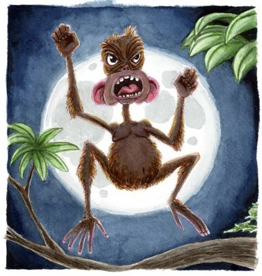 Bill Zeman 'Stupid Ugly Angry Monkey' Size: 8.4 x 8 Inch Giclee $30 Each