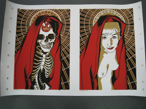 Brian Ewing 'Legion/Patron Saint' Edition of 3 Size: 36 x 24 Inches $150