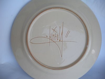 Dave Kinsey 'Fame Festival' Ceramic Plate Back