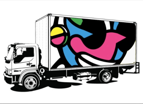 David Flores 'Kidrobot Truck' Edition of 50 Size: 24 x 18 Inches $60 Each