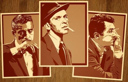 JOSHUA BUDICH Rat Pack Print Set Sammy, Frank & Dean