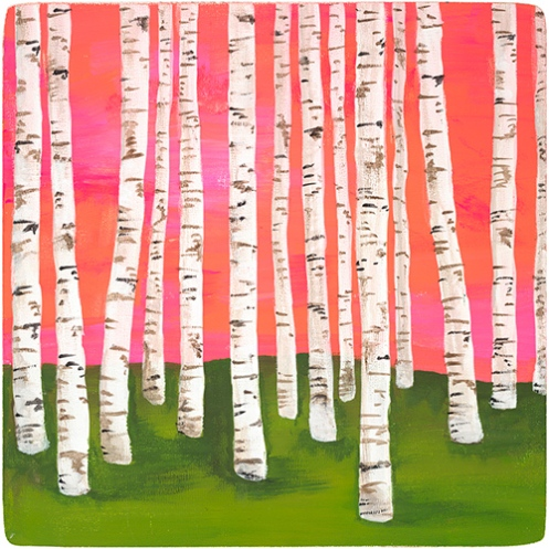 Lisa Congdon 'Birch Forest No. 7' Various Sizes + Various Prices