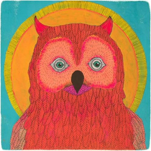 Lisa Congdon 'Owl No. 1' Various Sizes + Various Prices